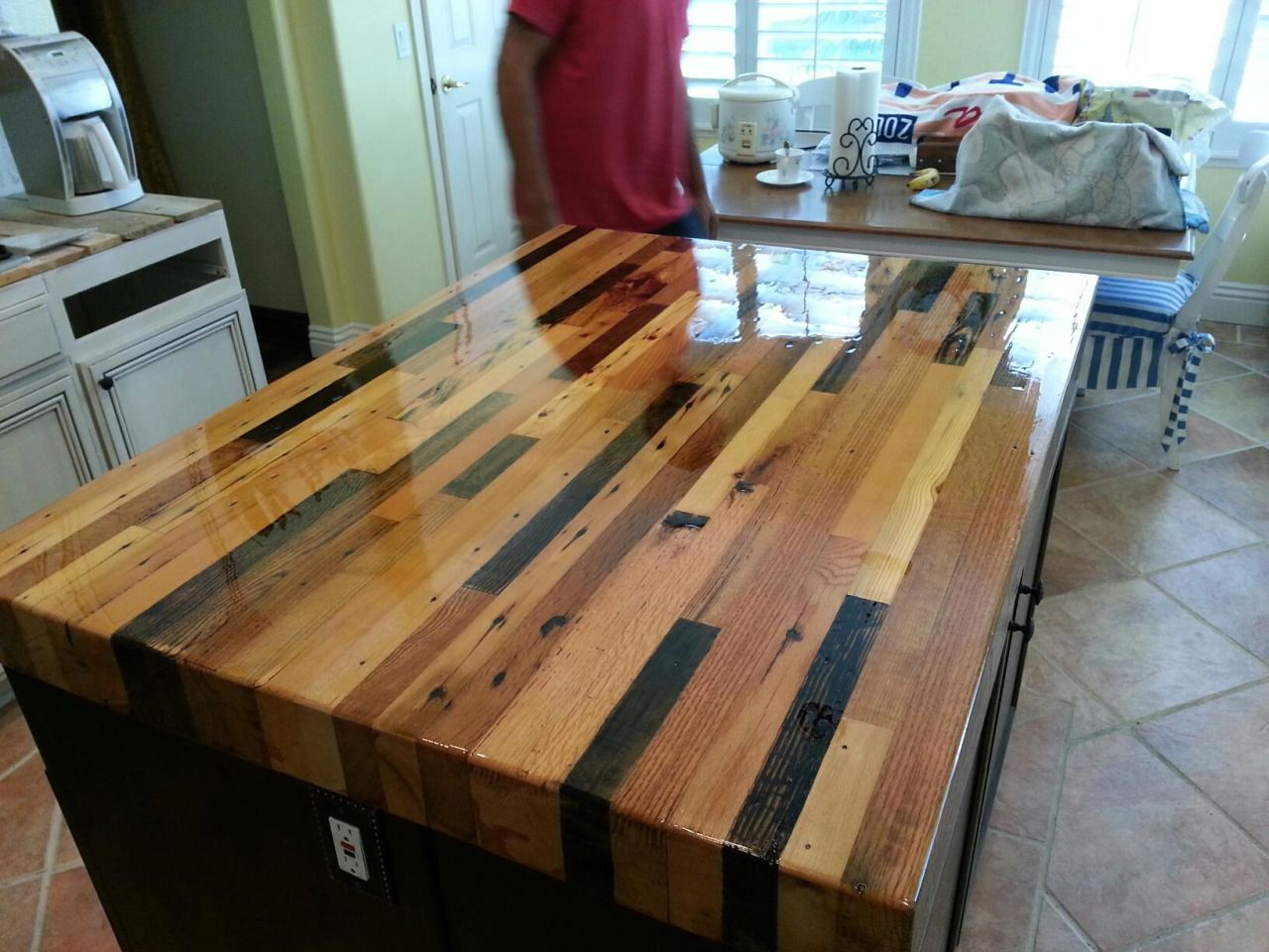 Reclaimed Butcher Block reclaimed wood island - google search | decor ideas | pinterest