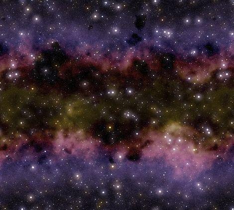Nebula Print Fabric - Pics about space