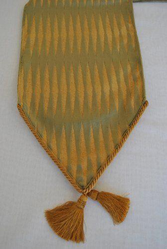 Sherry Kline Golden Gate Sage Green Luxury Table Runner By Sherry Kline Table  Runner. $79.99