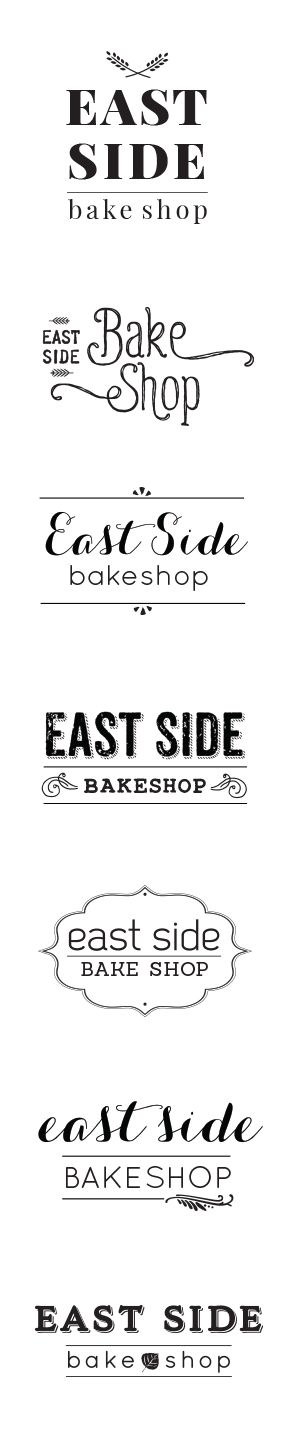 East Side Bake Shop by Laura Huston Design. Logo concepts for a bakery and café in the California Eastern Sierra outside of Mammoth Lakes.