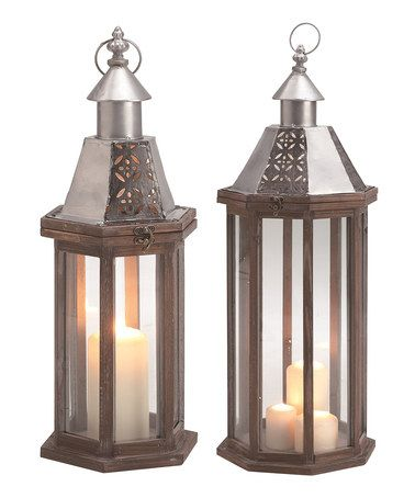 This Punched Metal Lantern - Set of Two is perfect! #zulilyfinds