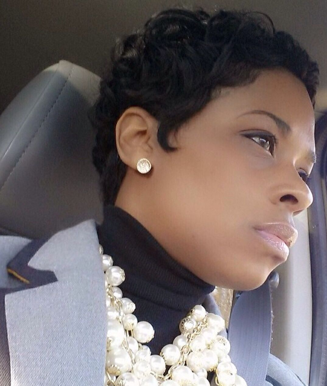 Curly pixie black hair tips and styles pinterest curly