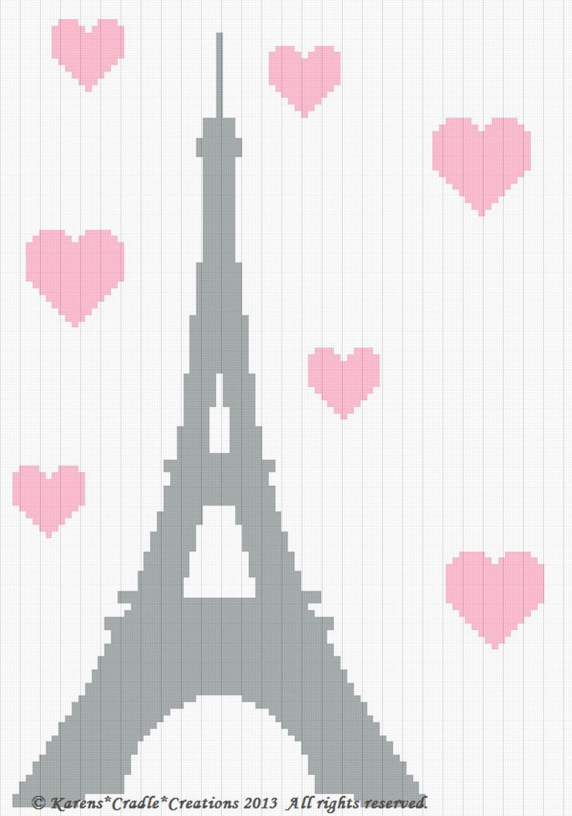 Crochet Pattern/Patterns - Eiffel Tower Afghan Pattern