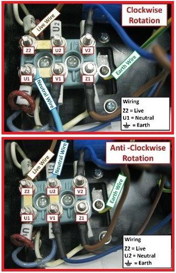 Single Phase Motor Rotation (Clockwise & Anti Clockwise