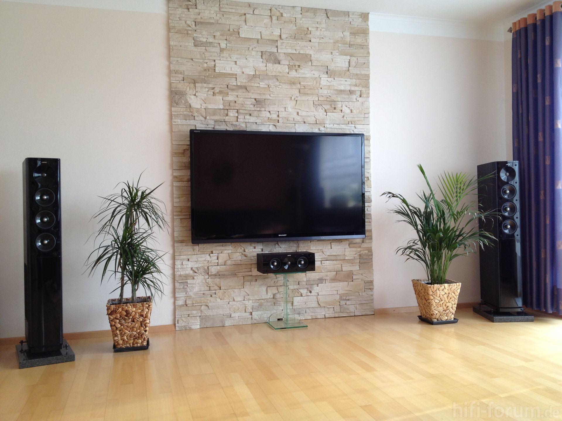 Wohnzimmer ideen prenova m m pinterest wohnzimmer for Steinwand tv