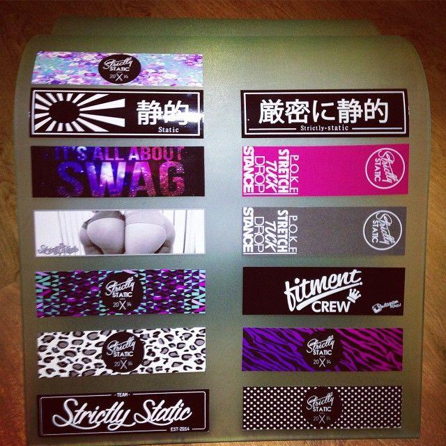 Bumper sticker collection 😍😍. S T A T I C - C R E…