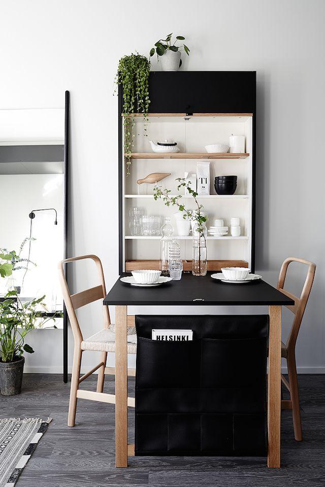 Klapptisch wand regal  Aufbewahrung Schrank in der Küche am Esstisch | INTERIOR // Küche ...