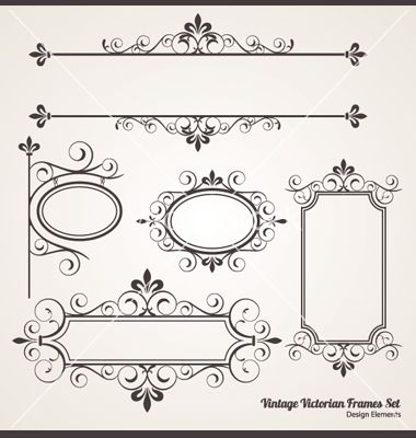 vintage victorian frame set vector 929750 by jpgcreative annual rh pinterest com victorian ornamental frame vector victorian frame vector free download