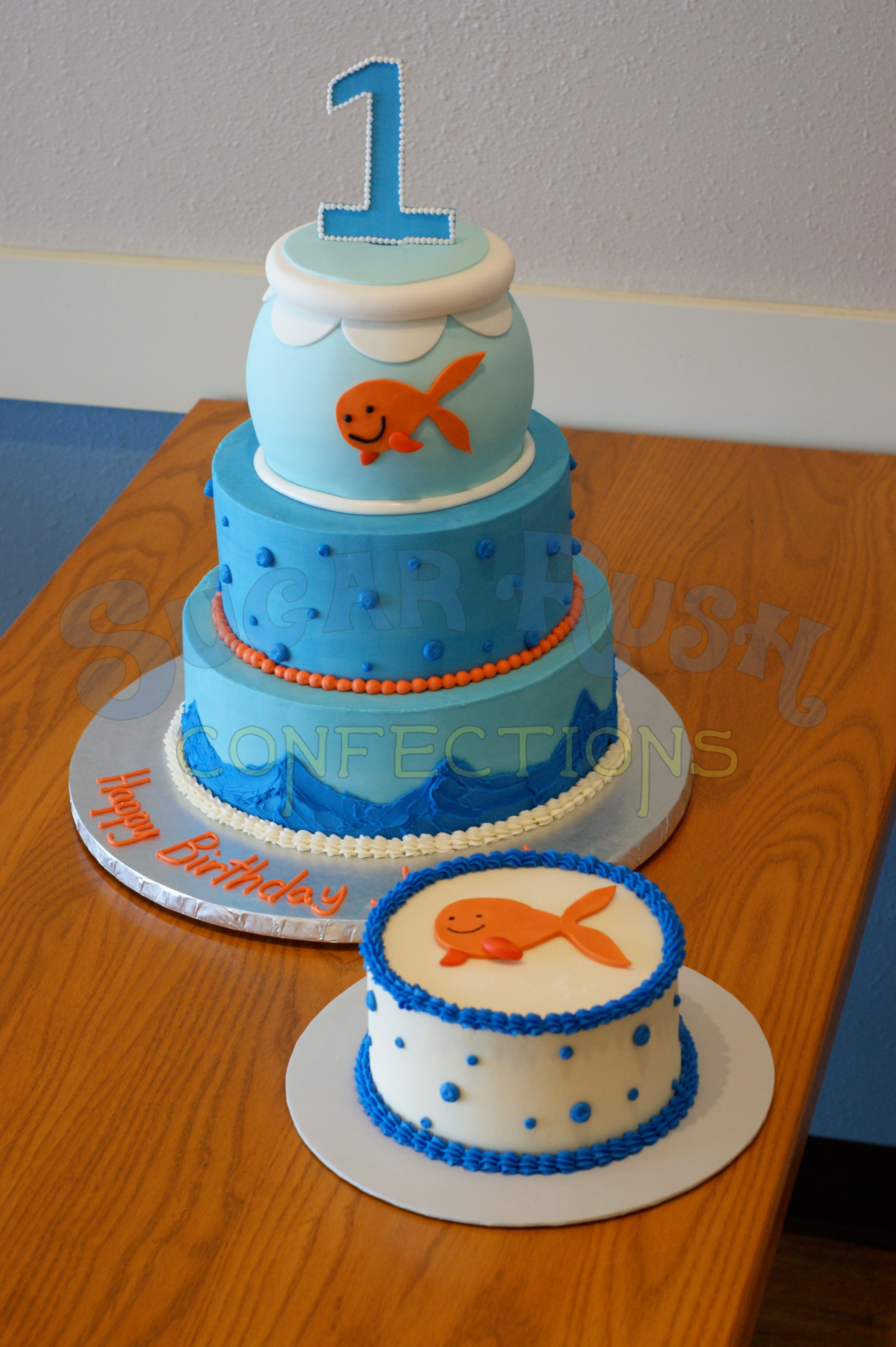 Goldfish First Birthday Cake SRC Kids Cakes Pinterest - Nemo fish birthday cake