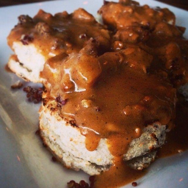 FL // Ft Lauderdale:  #Vegan Biscuits + Tempeh Bacon + Gravy at @GreenBarKitchen #regram from @greenbarkitchen #Farm2FLfarm2me