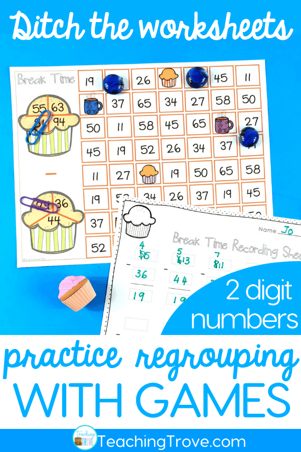 How to make Two Digit Subtraction with regrouping fun is part of Math subtraction, Teaching subtraction, Subtraction, Subtraction activities, Regrouping subtraction, Math groups - If your class had the choice between completing a whole page of two digit subtraction with regrouping equations OR playing a math game that required you to write equations, which would they choose  The writing math equations part probably has you thinking, neither  But what if they could work with classmates  Talk about strategies or ask for help if needed  And there was fun involved plus if they're a little competitive, they might win  Now, what would they choose  Mine would choose the two digit subtraction with regrouping game  Every Single Time  The benefits of math games over math worksheets Using math