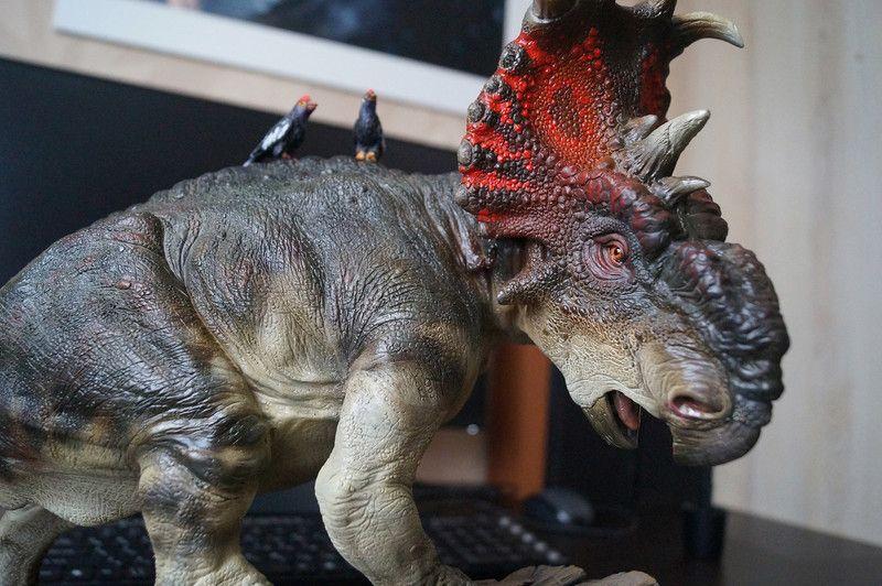 Statue of the dinosaur Pachyrhinosaurus, Sergey Avtushenko