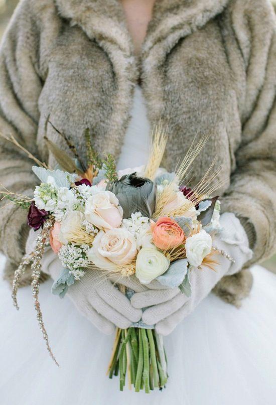 el encanto de las bodas de invierno | ramos de novia | pinterest