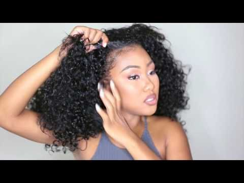 5 ways to Style a Curly Half Wig ft. Outre quick weave Dominican Curly -  YouTube fa4977565282