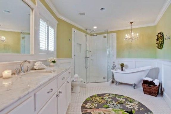 Clawfoot Tub With Separate Shower And The Master Bath Features A Separate Shower And