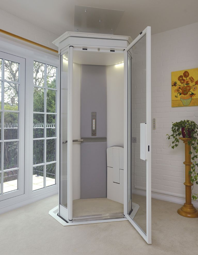 Our lifestyle home lift takes up no more space than an arm for Elevators home