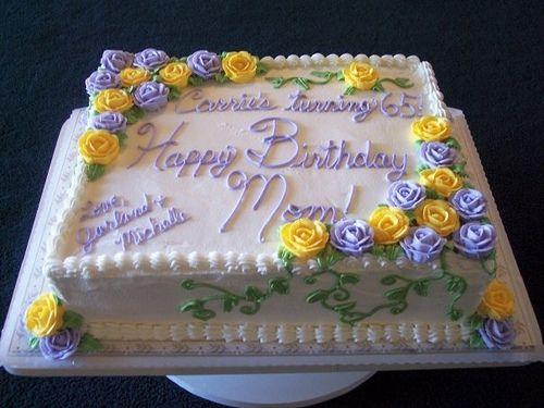 Flower Sheet Cakes for Birthdays Vines and Roses Half Sheet