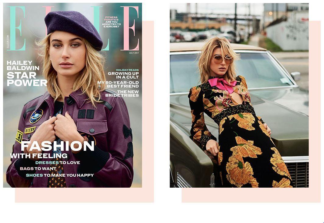 @haileybaldwin é destaque na revista @elleuk vestindo Linda Farrow #innovaoptical #lindafarrow #oculosdesol #design #weselldesignforliving