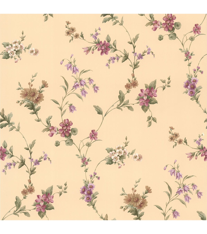 Heidi Purple Floral Trail Wallpaper - Home Decor & Holiday - Home ...