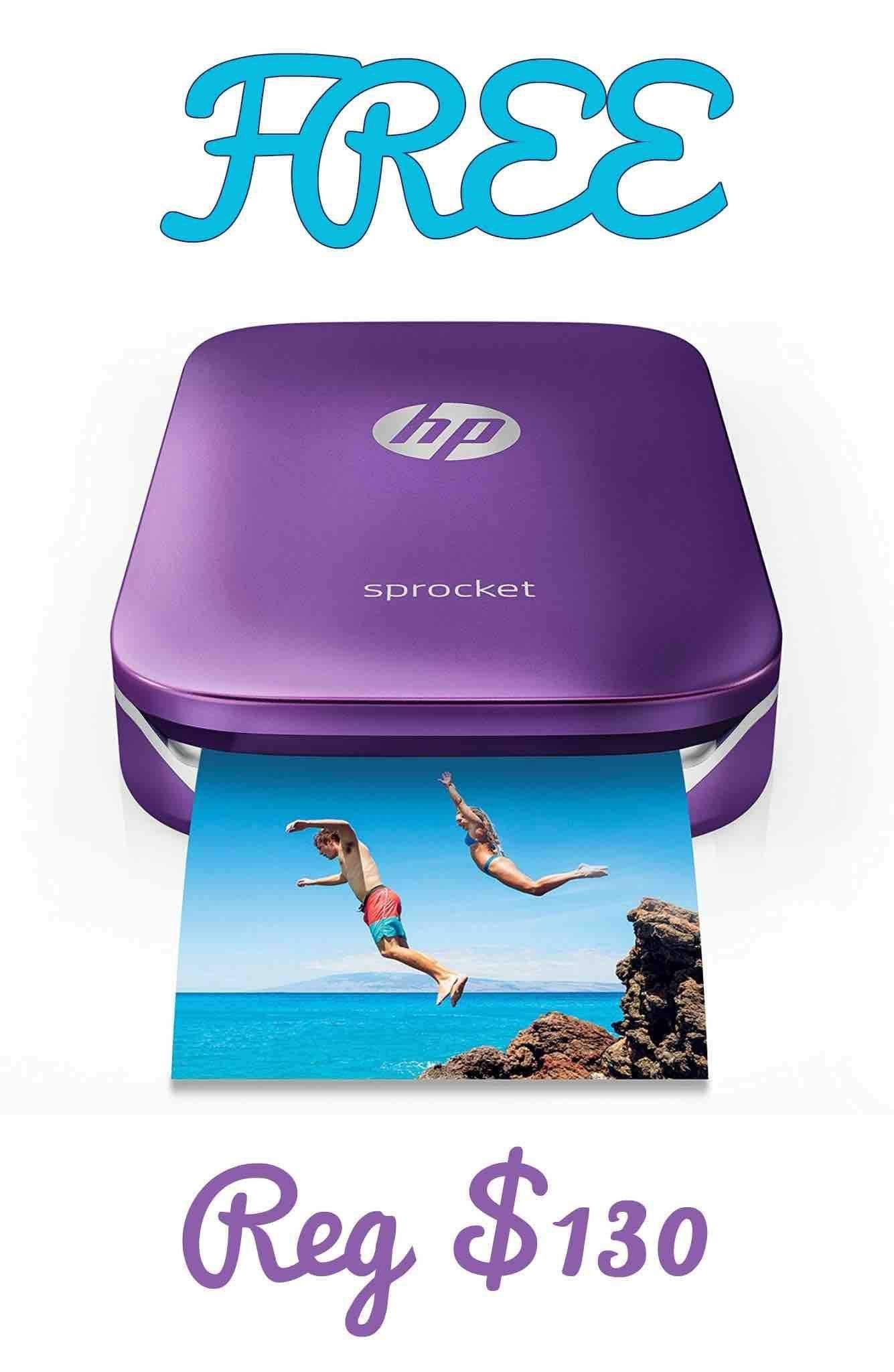 Win A FREE HP Sprocket Portable Photo Printer! Portable