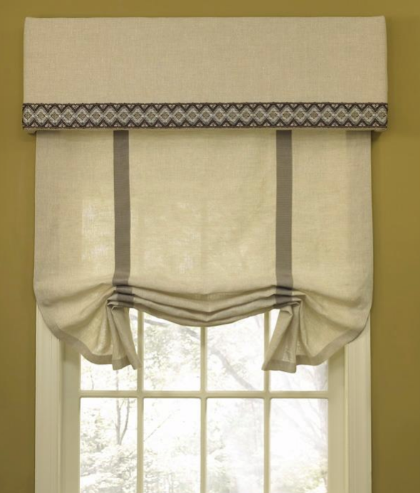 Decorating roman shades for windows : outside mount roman shades, roman shade and valance |