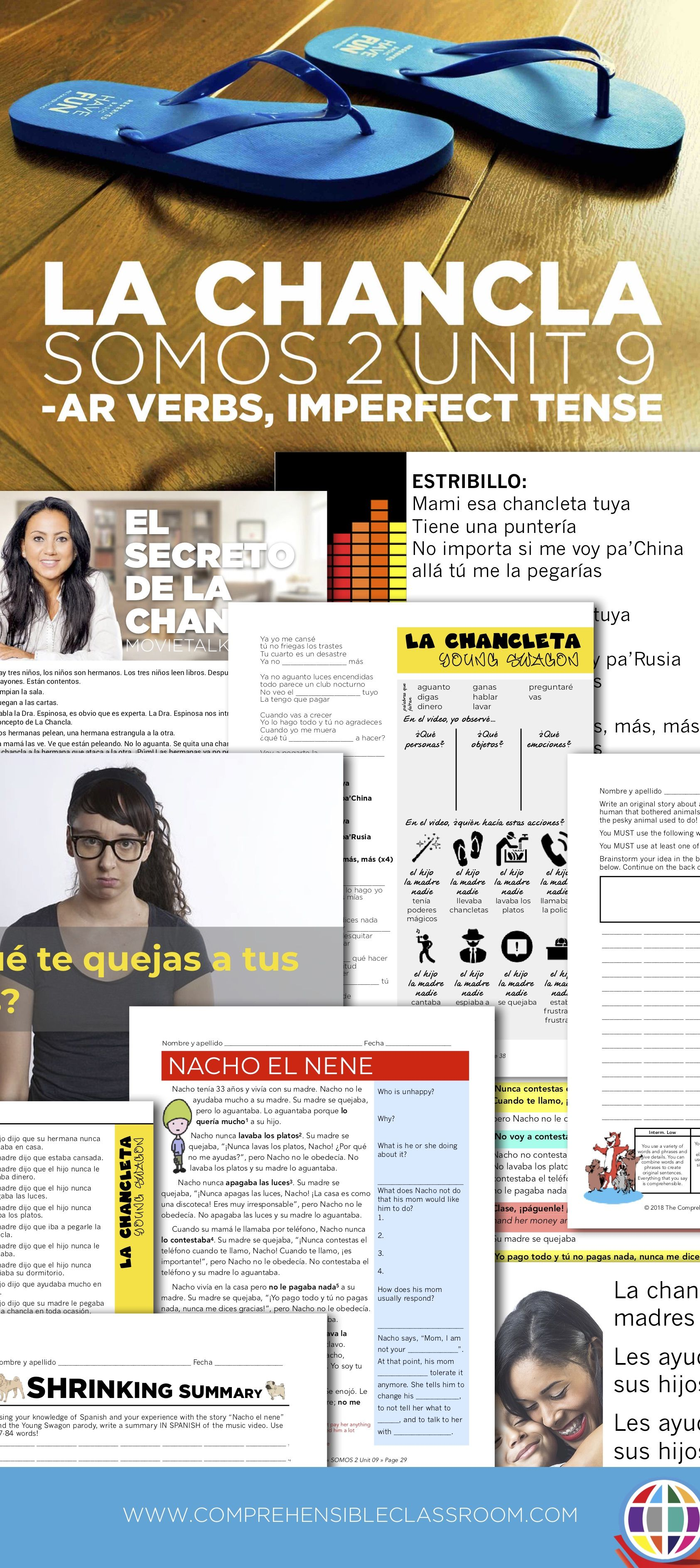 What Is The Chancla And Are Latino Children Really Afraid Of It Learn All About It With Five Very Full Days Of Compreh Im Not Perfect Spanish Reading Spanish [ 3772 x 1685 Pixel ]