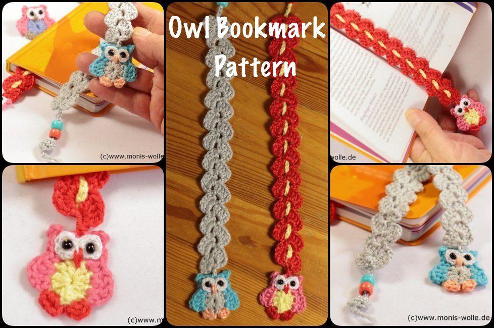 Crochet Owl Bookmark with Pattern | Ideias | Pinterest ...