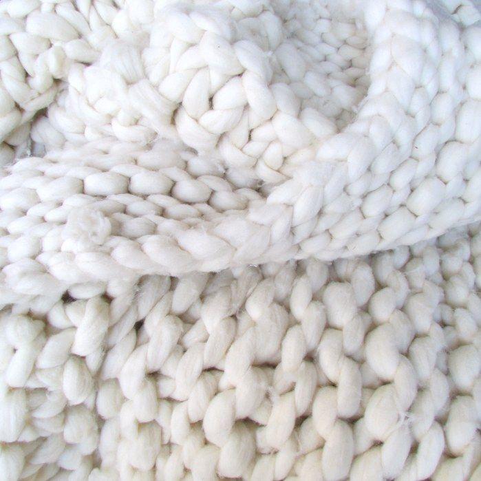 Chunky Knit Wool Blanket | Tejido, Cobija y Oveja