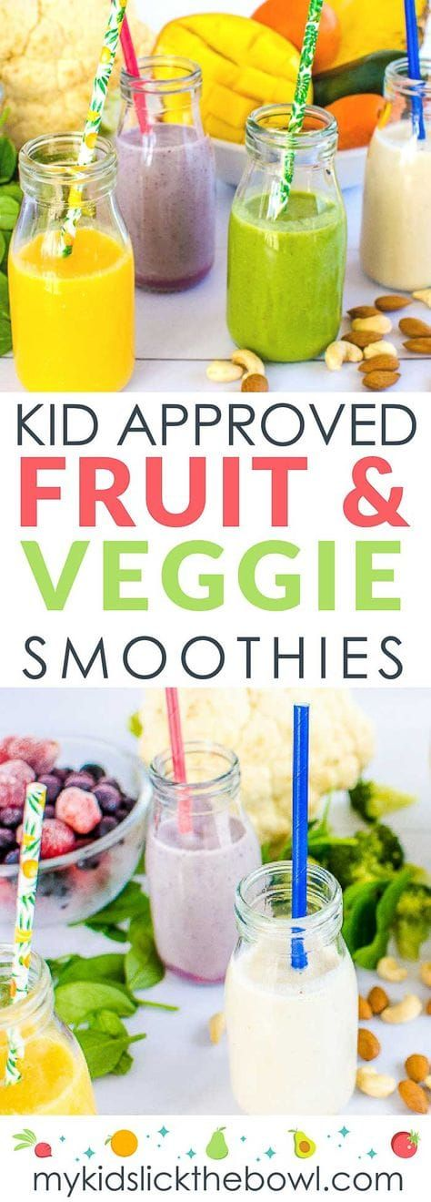 4 Fruit and Veggie Smoothie Combinations My Kids Will Drink #fruitsmoothie