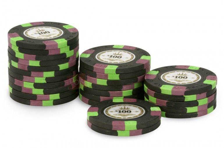 Rouleau de 25 jetons de poker Tab Chips 100 Jetons de