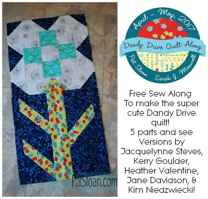 Join our FREE Sew along Dandy Drive!