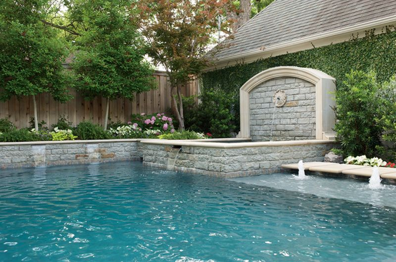 Dallas Landscape Design Portfolio Bonick Landscaping Pool Water Features Courtyard Landscaping Pool Landscaping
