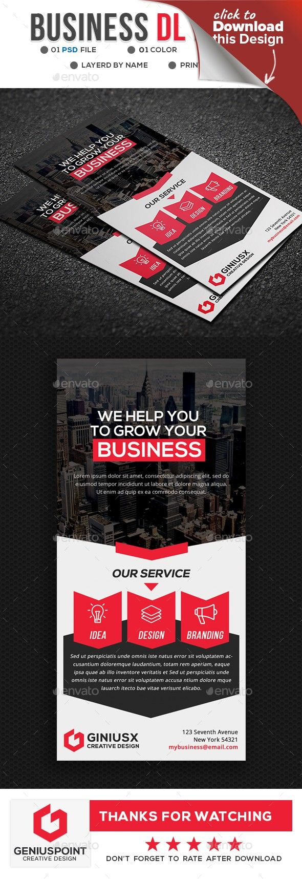 Business DL Flyer | Flyer printing, Flyer template and Business cards