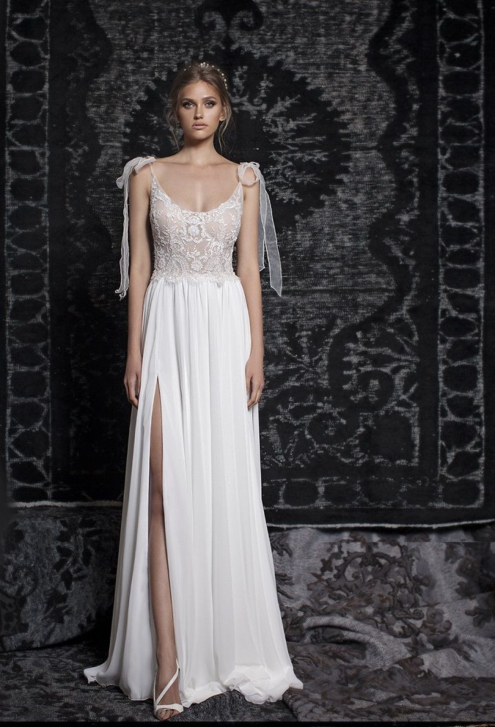 Bohemian Gypsy Wedding Dresses | Bohemian wedding gown, a-line wedding dress, scoop neckline wedding gown