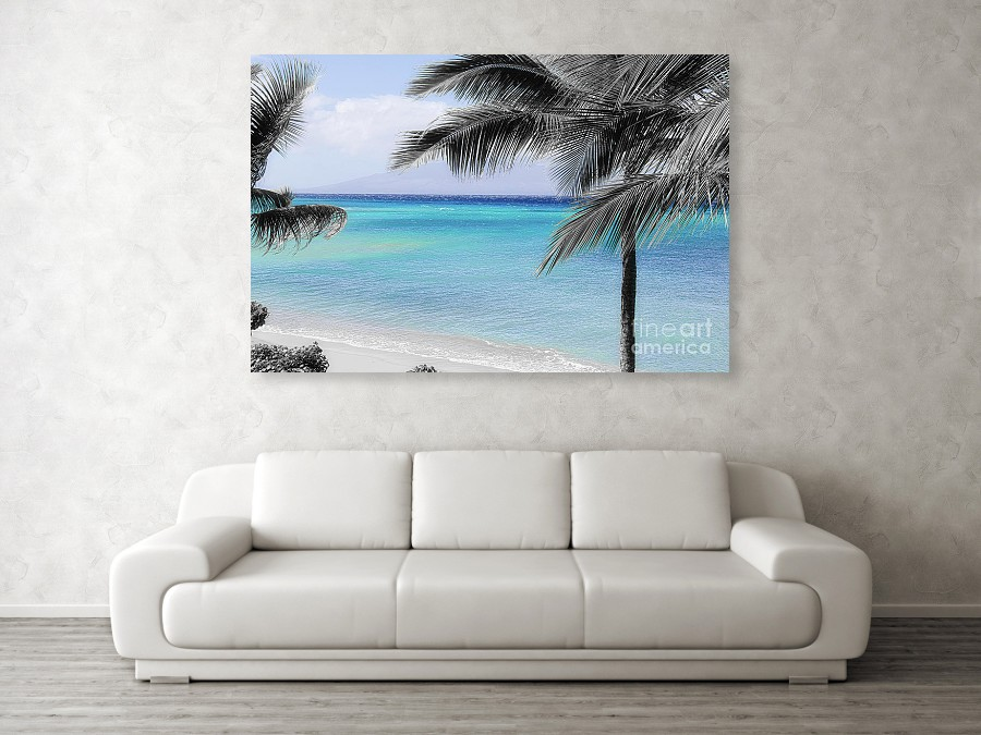 Black White And Blue Lanai View Canvas Print Canvas Art By Michele Hancock In 2020 Canvas Prints Black And White Canvas Art