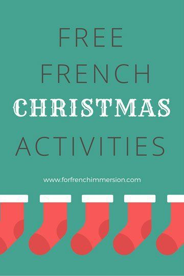 FREE French Christmas Activities | Pinterest | French christmas ...