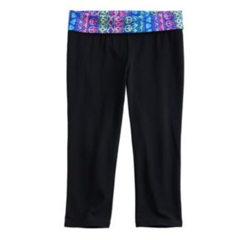 SO Geometric Fold-Over Skinny Yoga Capris - Girls 7-16 | 5th grade ...