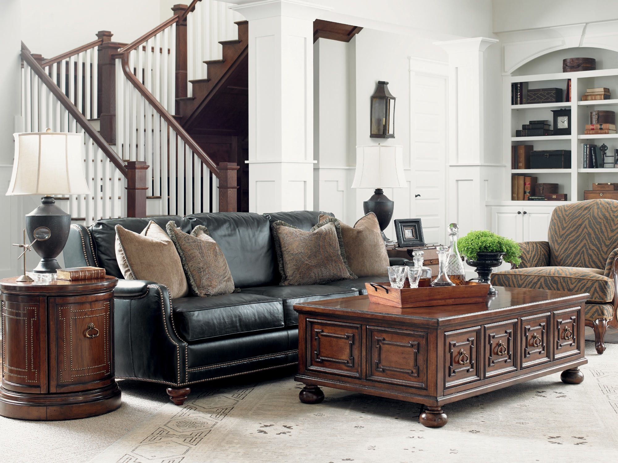 coventry hills alcot leather sofa | lexington furniture | home