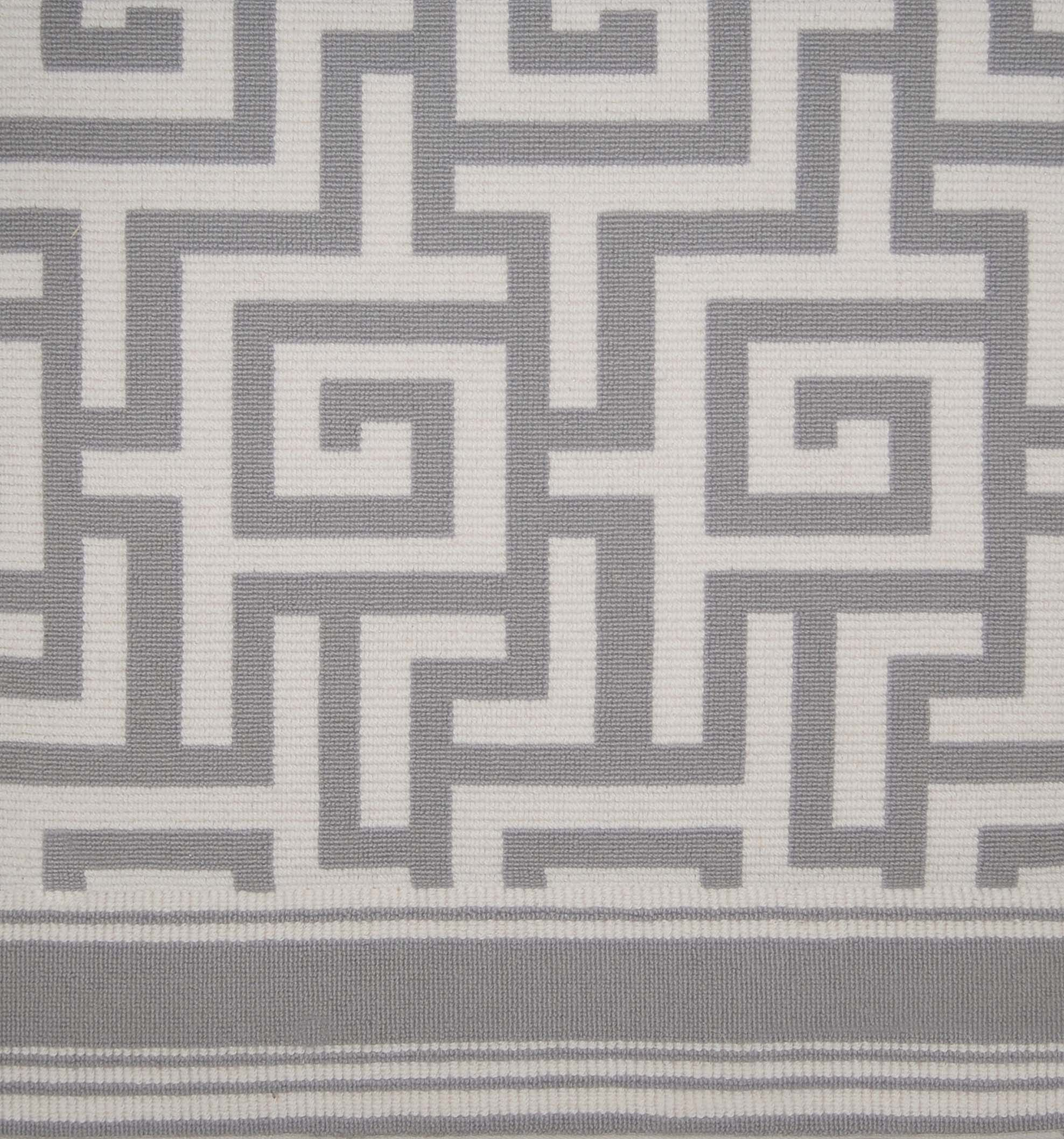 Stark Carpet Meandering Pattern Reminiscent Of Geometric Period Mycenae