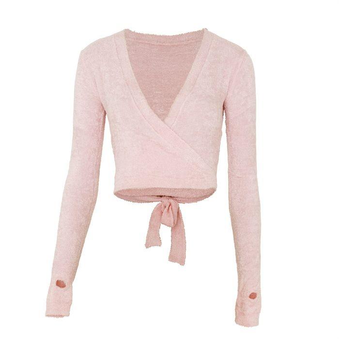 fb6767d685 Camisas De Baile · Clase De Ballet · Capezio Chenille Warm Up Wrap Top.  Dance Knitwear from Capezio at www.dancinginthestreet.