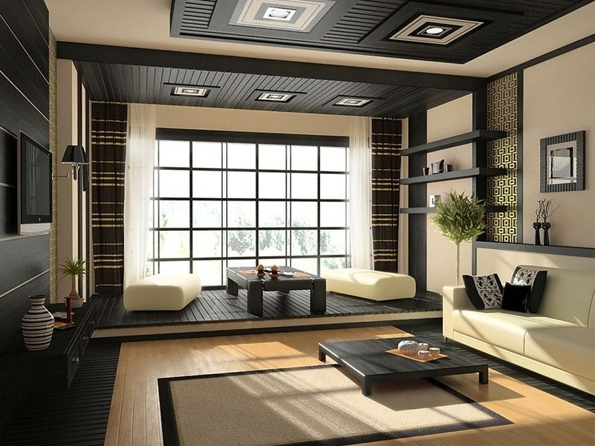 Outstanding Asian Living Room with Inspiring Zen Interior Design ...