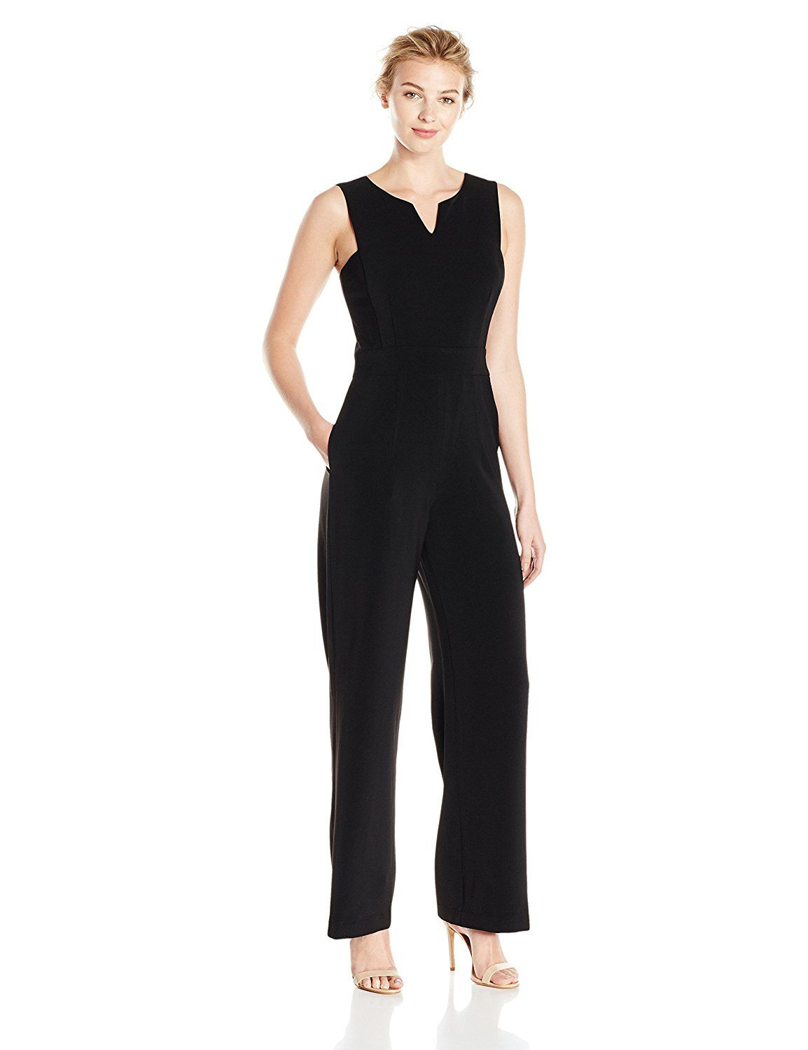 76b68091c120 Lark & Ro Women's Clean Front Jumpsuit at Amazon Women's Clothing store:
