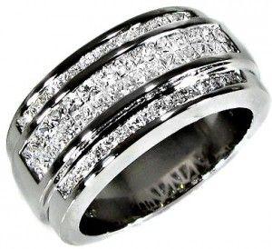Diamond Mens Wedding Rings
