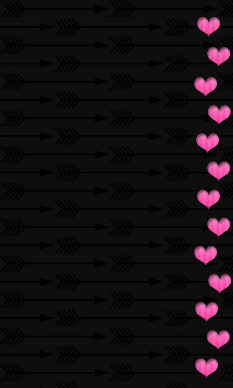 Black And Pink Border Hearts Wallpaper Pink And Black Wallpaper