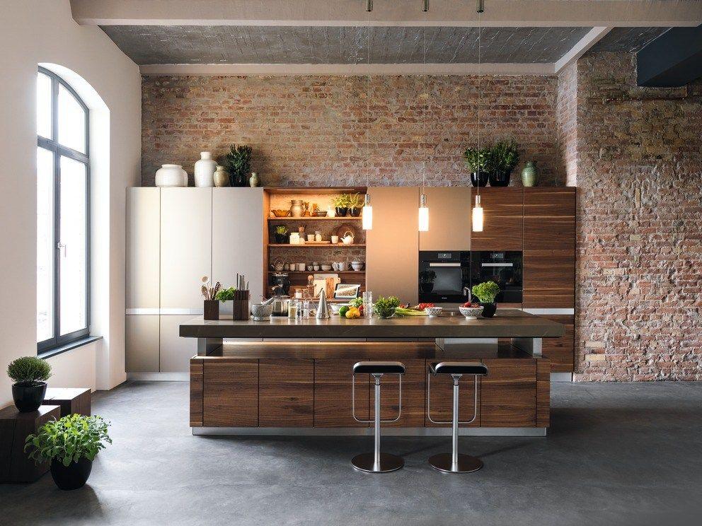 Solid wood kitchen with island k7 by TEAM 7 Natürlich Wohnen design