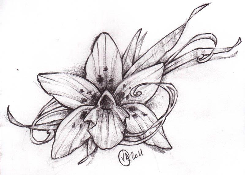 Tatouage Fleur D Orchidee