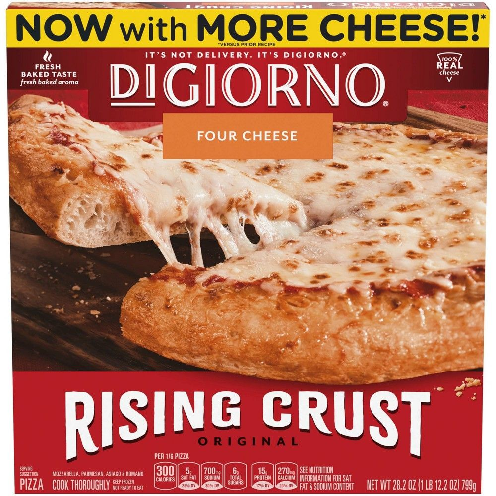 Digiorno Rising Crust Four Cheese Frozen Pizza 28 2oz In 2020 Frozen Pizza Rising Crust Pizza Rising Crust