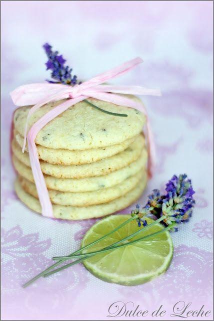 Dulce de Leche: Lavender-lime cookies / slovak