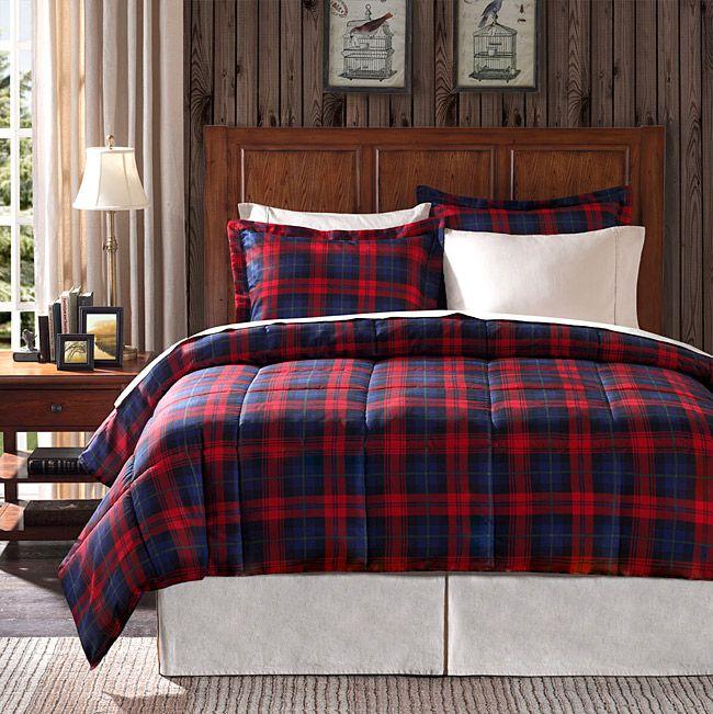 premier comfort ashland plaid twinsize 2piece down alternative comforter set - Plaid Comforter