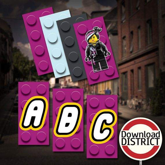 The Lego Movie Birthday Party Banner Girls by DownloadDistrict